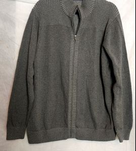 Alan Flusser Full zip gray sweater